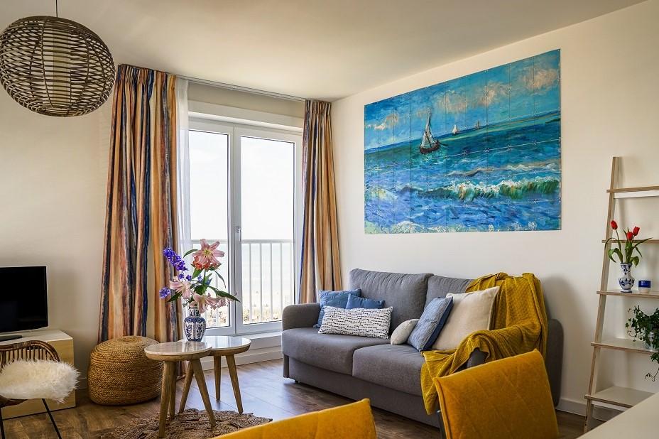 Zeezicht 2 slaapkamer met frans balkon - Boulevard5